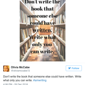 #amwriting example #5